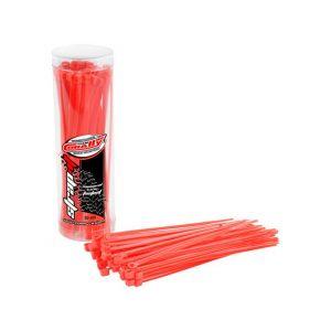 Stahovací pásky 2,5x100mm - 50 ks. - červené
