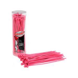 Stahovací pásky 2,5x100mm - 50 ks. - růžové