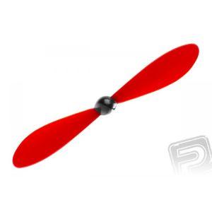 Vrtule včetně kuželu 125 x 110mm / 4,9 x 4,3 - červená, 100 ks.