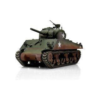 TORRO tank PRO 1/16 RC M4A3 Sherman 75mm kamufláž zelená - infra IR - kouř z hlavně