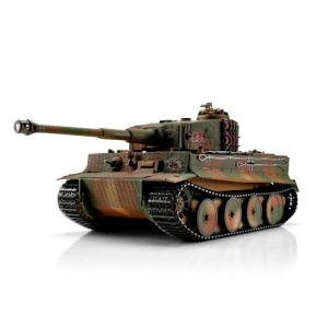 TORRO tank PRO 1/16 RC Tiger I střední verze vícebarevná kamufláž - infra IR - Servo
