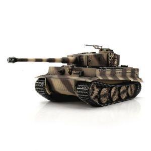TORRO tank PRO 1/16 RC Tiger I pozdní verze pouštní kamufláž - infra IR - kouř z hlavně