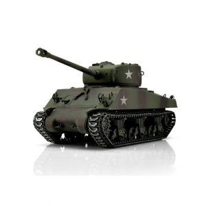 TORRO tank PRO 1/16 RC M4A3 Sherman 76mm maskovací kamufláž - infra IR - kouř z hlavně