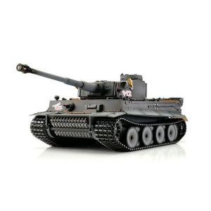 TORRO tank PRO 1/16 RC Tiger I dřívejší verze šedá kamufláž - BB - kouř z hlavně