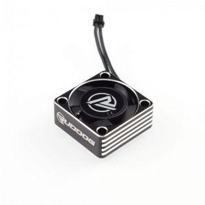 RUDDOG hliníkový větráček 25mm s černým kabelem